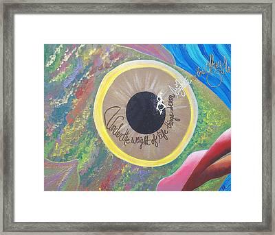 Big Eyed Fish Framed Print by Nina Giordano