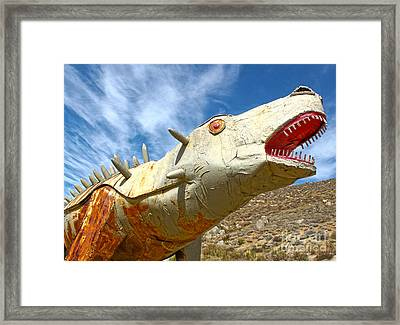 Big Fake Dinosaur - 02 Framed Print by Gregory Dyer