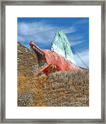 Big Fake Dinosaur  Framed Print by Gregory Dyer