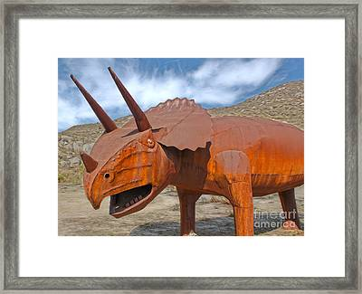 Big Fake Dinosaur - Triceratops Framed Print by Gregory Dyer