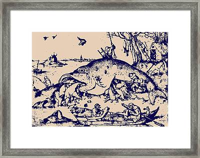 Big Fish Eat Little Fish Framed Print by
