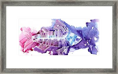 Big Fish Framed Print by Mike Lawrence