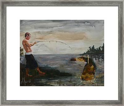 Big Fish Framed Print by Tom Dauria