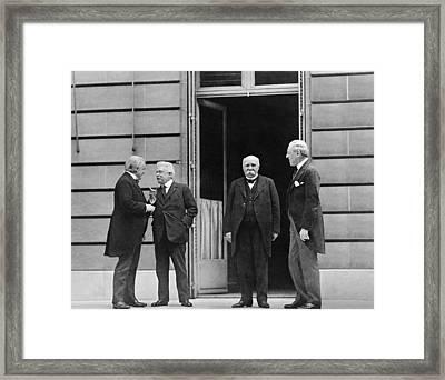 Big Four At Versailles Framed Print