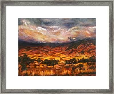 Big Gountry - Mac Donnell Ranges Australia Framed Print