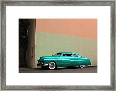 Big Green Merc Just Around The Corner Framed Print