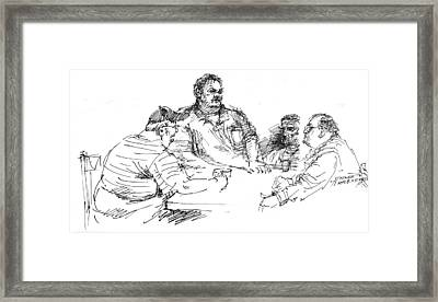 Big Guys And A Little Guy Framed Print