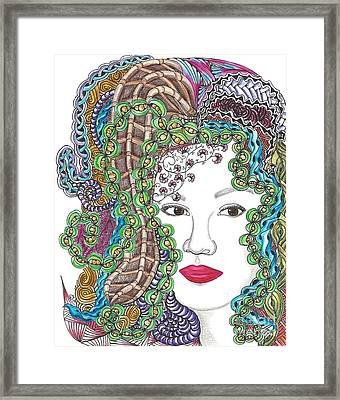 Big Hair Color Framed Print