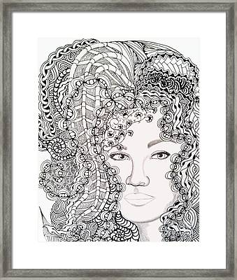 Big Hair Framed Print