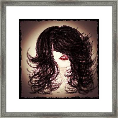 Big Hair Rocks Framed Print by Go Inspire Beauty