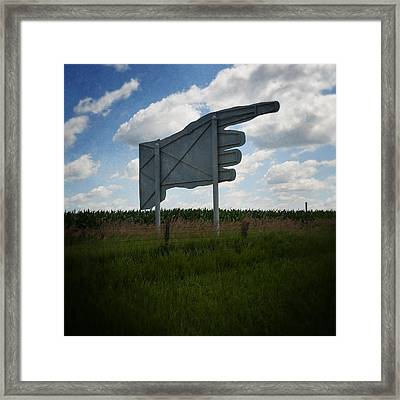 Big Hand Framed Print