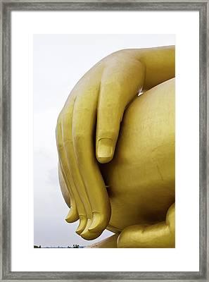 Big Hand Buddha Image Framed Print