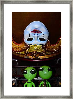 Big Heads Wierd Faces Framed Print