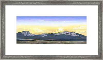 Big Hole Beaverhead Mountains Framed Print