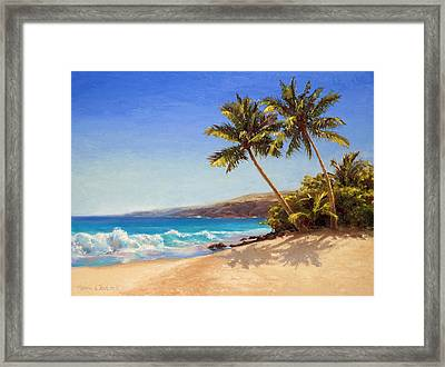 Hawaiian Beach Seascape - Big Island Getaway  Framed Print
