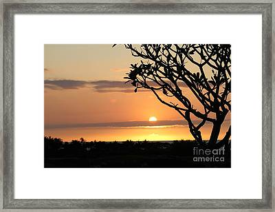 Big Island Sunset All Profits Go To Hospice Of The Calumet Area Framed Print