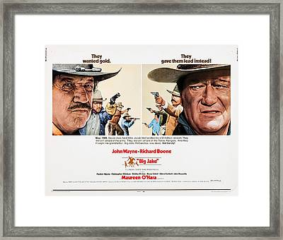 Big Jake, Us Lobbycard, Richard Boone Framed Print by Everett