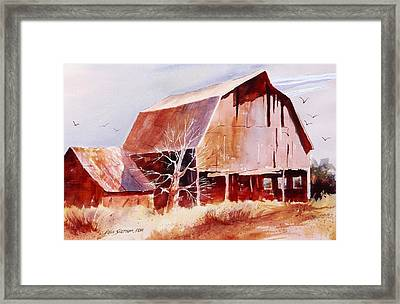 Big Jim's Barn Framed Print by John  Svenson