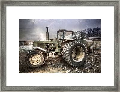 Big John In Winter Framed Print by Debra and Dave Vanderlaan