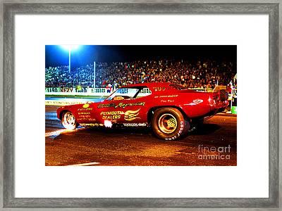 Big John Mazmanian Cuda Funny Car Orange County Raceway 1970s Framed Print