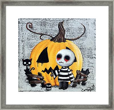 Big Juicy Tears Of Blood And Pain No. 11 The Great Pumpkin Framed Print