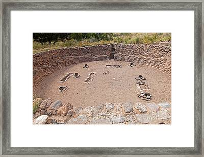 Big Kiva Bandelier National Monument Framed Print