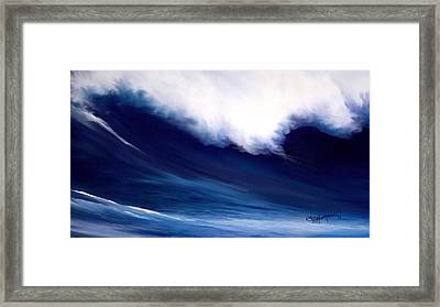 Framed Print featuring the digital art Big Kahuna 2 by Anthony Fishburne