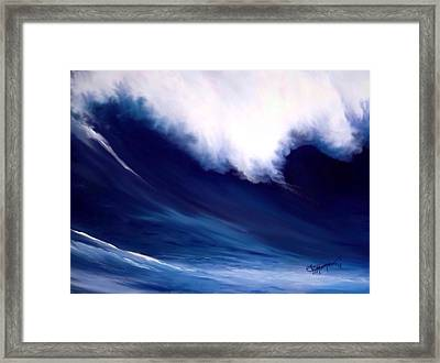 Framed Print featuring the digital art Big Kahuna  by Anthony Fishburne