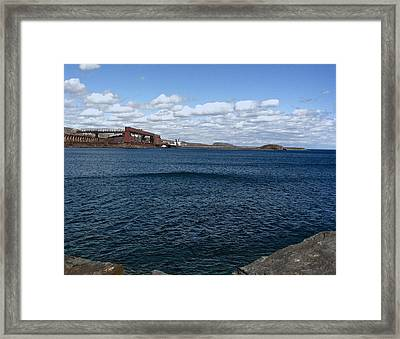 Big Lake Big Sky Framed Print by Russell Smidt