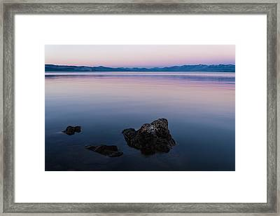 Big Lake Framed Print