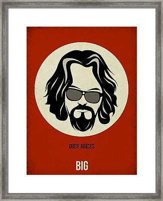 Big Lebowski Poster Framed Print by Naxart Studio