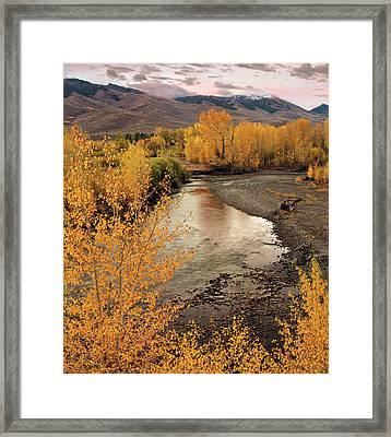 Big Lost River In Autumn Framed Print by Leland D Howard