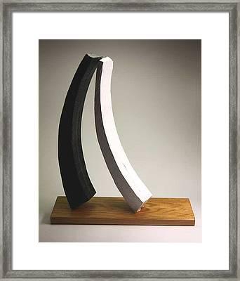 Big Love On Litle Base Framed Print by Lilian Istrati