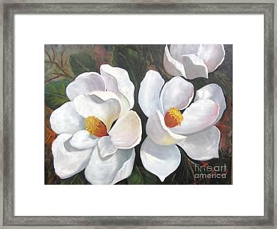 Big Magnolias Framed Print