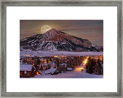 Big Moon Rising Framed Print