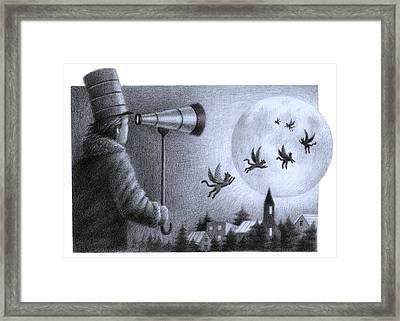 Big Moon Framed Print by Steve Dininno