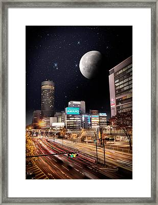 Big Moon Yokohama Framed Print