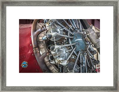 Big Motor Vintage Aircraft  Framed Print by Rich Franco