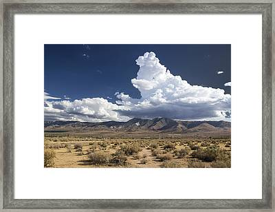 Big Mountains Bigger Clouds Framed Print