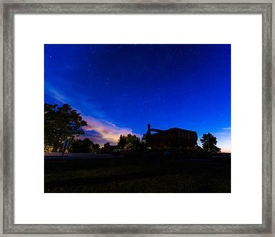 Big Muskie Bucket Under The Stars Framed Print