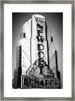 Big Newport Edwards Theater Marquee In Newport Beach Framed Print