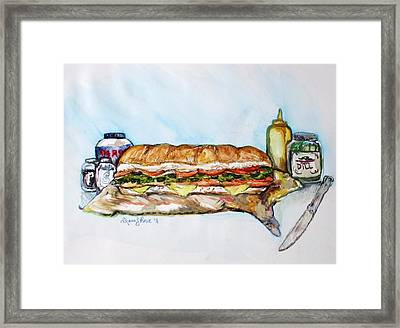 Big Ol Samich Framed Print by Shana Rowe Jackson