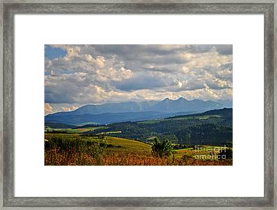 Big Open Skies Over Tatra Moutains Framed Print