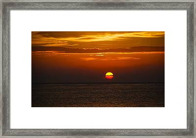 Framed Print featuring the photograph Big Orange Ball by Phil Abrams