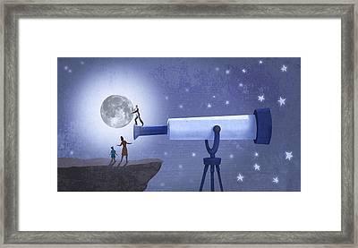 Big Planet Framed Print by Steve Dininno