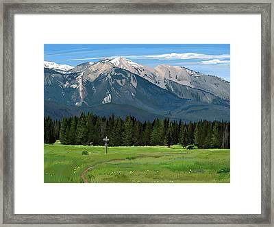 Big Prairie Trail Junction Framed Print