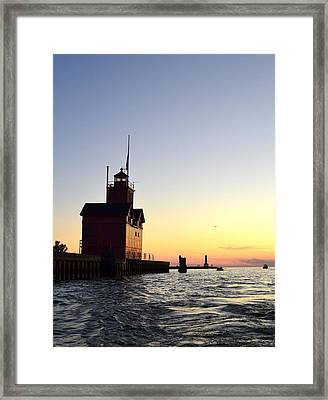 Big Red At Sunset Framed Print by Michelle Calkins