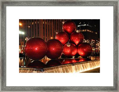 Big Red Balls Framed Print