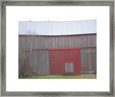 Big Red Barn Door Framed Print