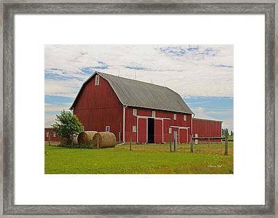 Big Red Barn II - Carroll County Indiana Framed Print